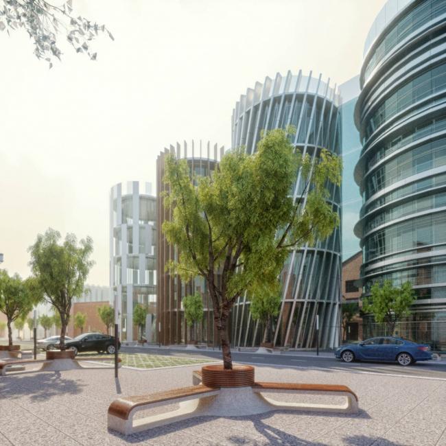 Рекреационный модуль для города © Arch group