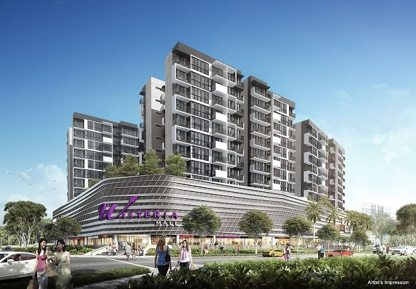 Wisteria («Вистерия») – новый девелоперский проект жилищной и коммерческой застройки в Сингапуре. Иллюстрация предоставлена компанией АВВ