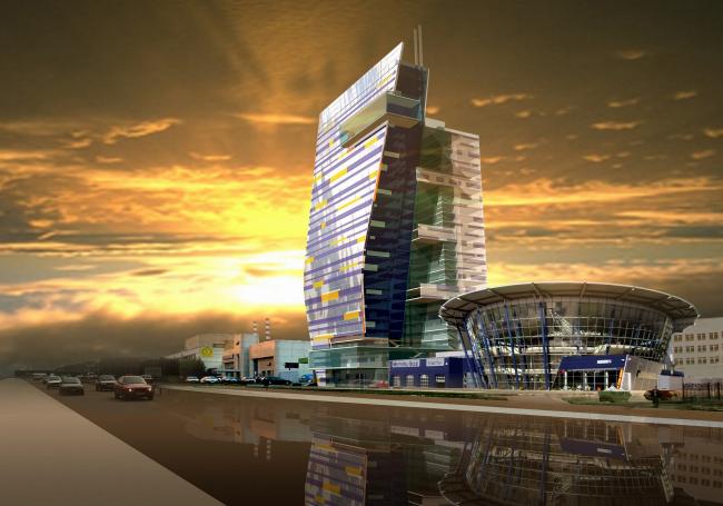Бизнес-центр «Volgogradsky Tower» © Архитектурное бюро Асадова