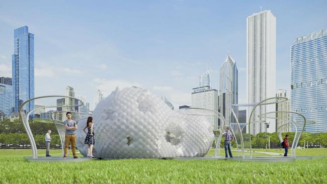 Проект многофункционального павильона «Lakefront kiosk» © Arch group