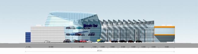 Развлекательный центр с автосалоном, г. Балашиха © Архитектурное бюро Асадова