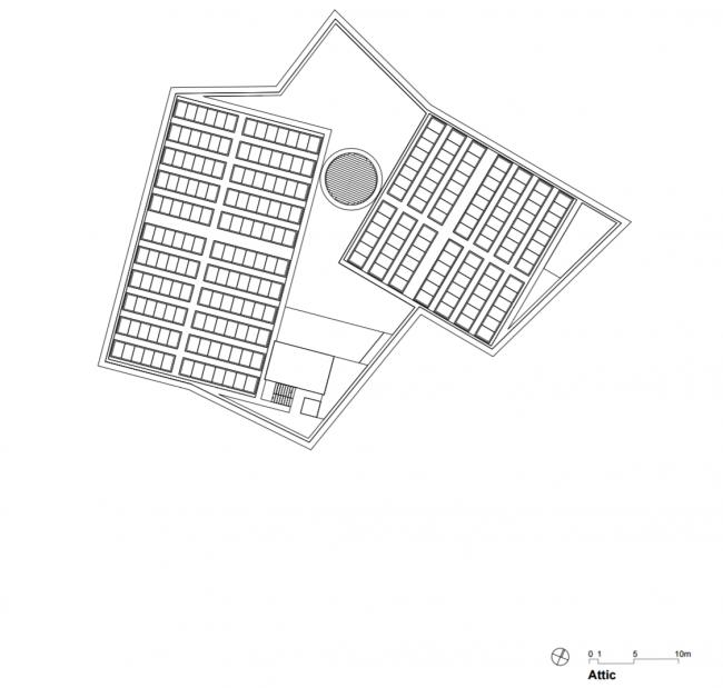 Kunstmuseum Basel. Новое здание. Мансарда. Christ & Gantenbein