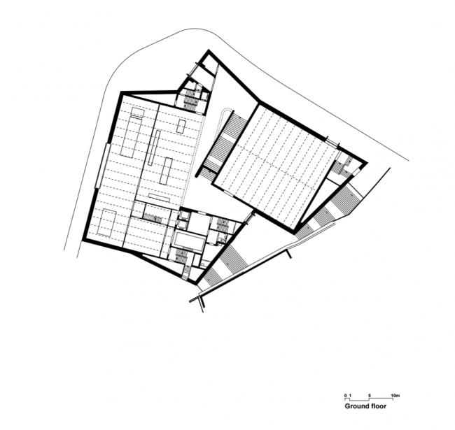 Kunstmuseum Basel. Новое здание. Первый этаж. Christ & Gantenbein