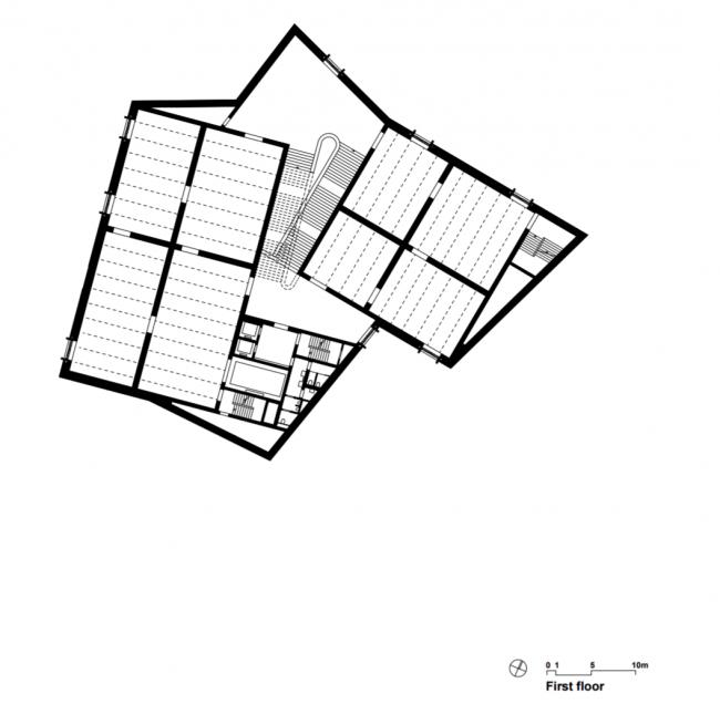 Kunstmuseum Basel. Новое здание. Второй этаж. Christ & Gantenbein