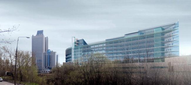 Офисно-технический центр Volkswagen, ул. Наметкина © Архитектурное бюро Асадова