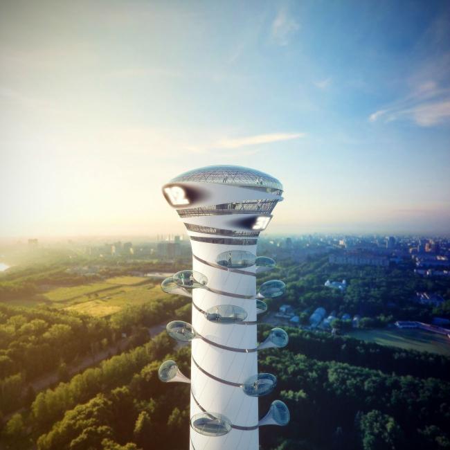 Конкурсный проект реконструкции телевизионной башни © Arch group