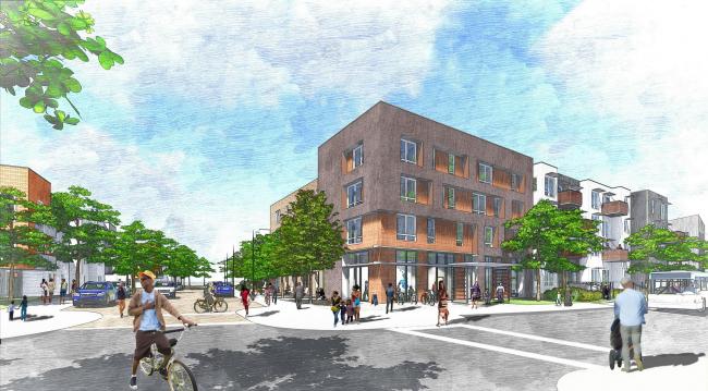 Lee Walker HeightsMaster plan. Ashville, North Carolina © David Baker Architects