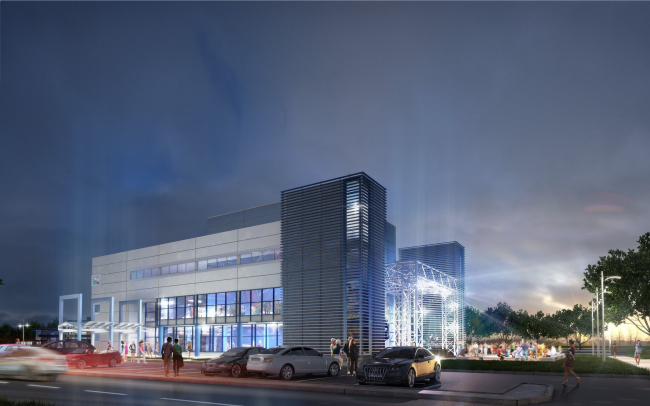 Youth hobby center in the Krasnogvardeisky District. Project, 2012 © Anatoly Stolyarchuk architectural studio