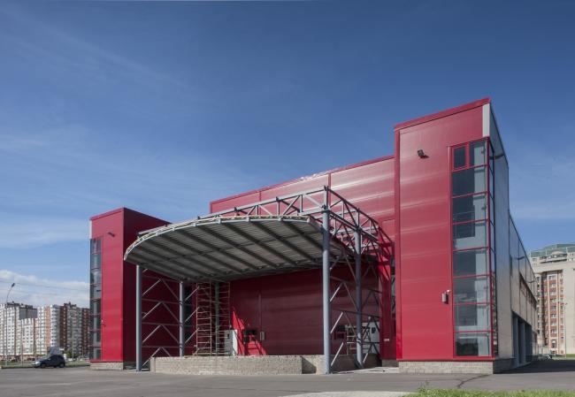 Молодёжный досуговый центр. Сцена. Постройка, 2014 © Архитектурная мастерская А.А. Столярчука