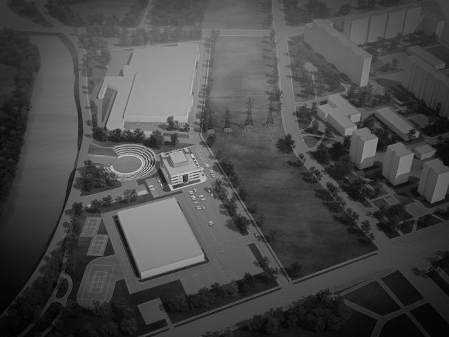 Молодёжный досуговый центр в Красногвардейском районе. Проект, 2012 © Архитектурная мастерская А.А. Столярчука