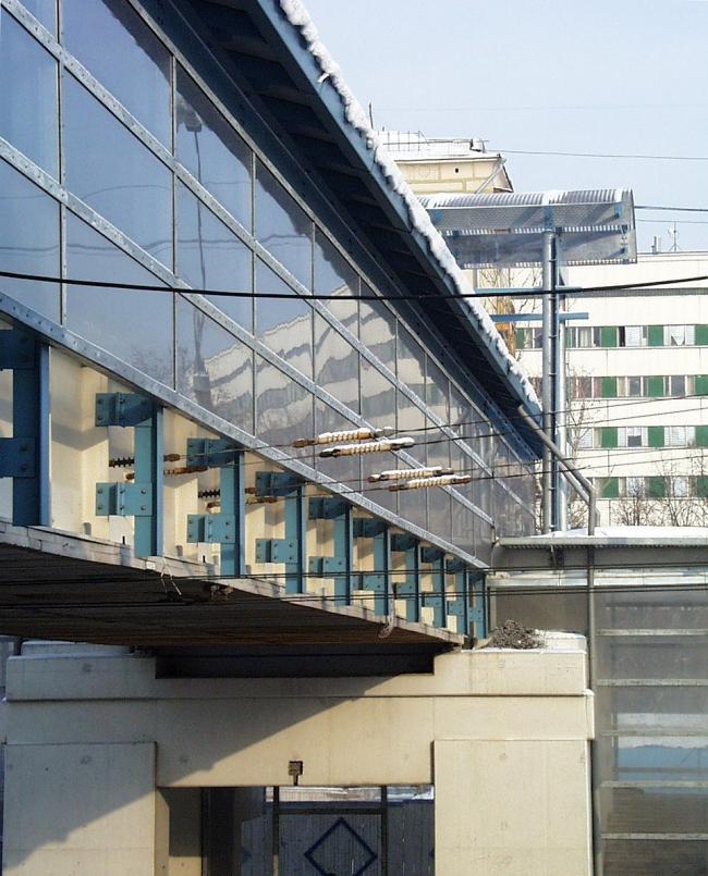 Пешеходный мост, ул. Хамовнический Вал © Архитектурное бюро Асадова