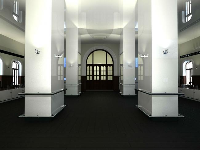 Концепция интерьеров Рижского вокзала © Arch group