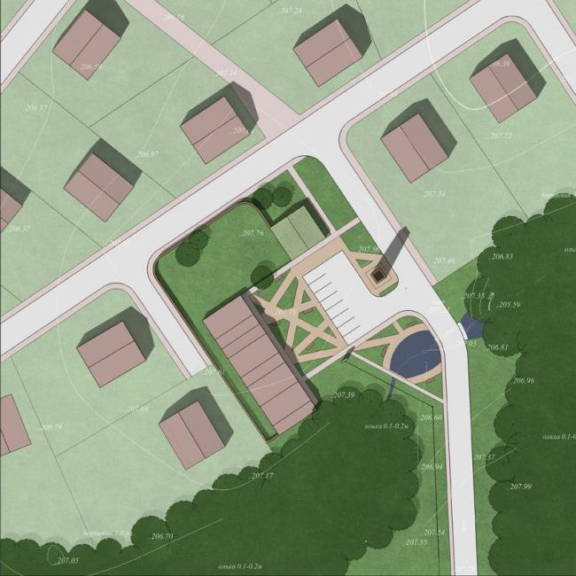 Концепция общественных зон в поселке Бежин Луг Эко © Arch group