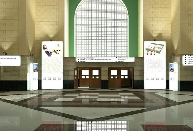 Концепция интерьеров Казанского вокзала © Arch group