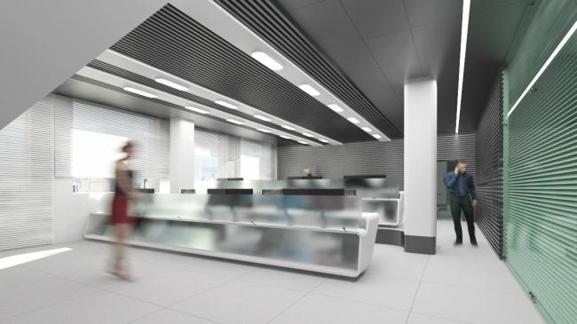 Ситуационный центр Федеральной Пассажирской Компании. Вариант 1 © Arch group
