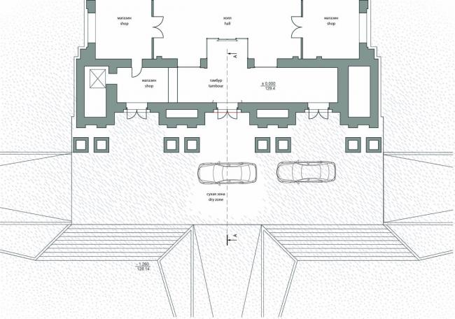 Реконструкция гостиницы «Украина». Конкурсный проект «Невидимый воздушный козырек» © Arch group
