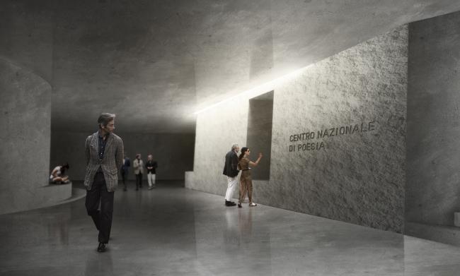 Проект культурного центра из бетона в Риме. Эвелин Лэм, Дэйв Холборн.  Университет Ватерлоо (Канада) © Bee Breeders Architecture Competitions