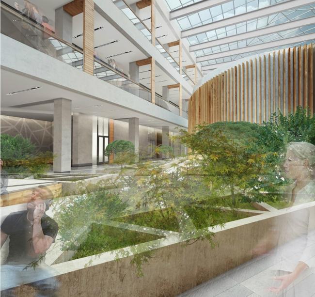 Интерьер научно-исследовательского центра РЕНОВА-ЛАБ © Т+Т Architects