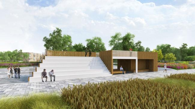 Концепция благоустройства ул. Б. Академическая. Проект, 2015 © T+T Architects