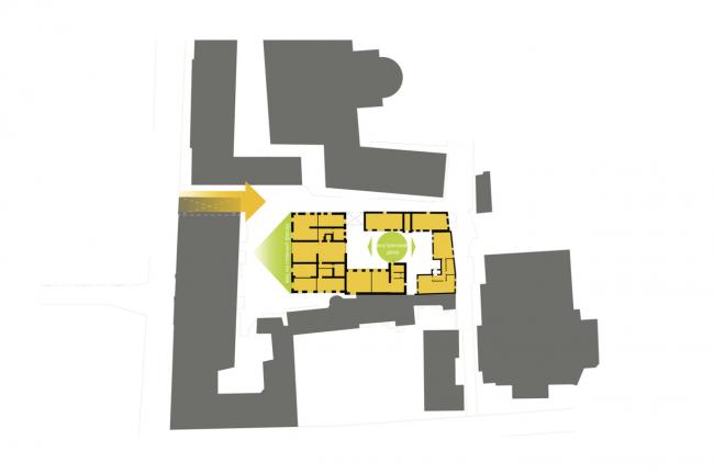 Архитектурное проектирование жилого дома по ул. Б. Дмитровка. План © T+T Architects
