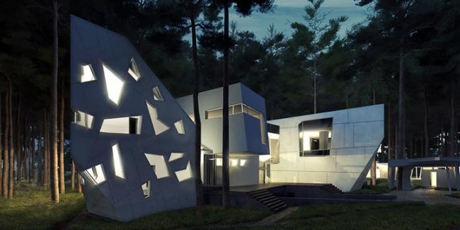 Индивидуальный жилой дом «Сосновый бор-2» © Архитектурное бюро «Тотемент/Пейпер»