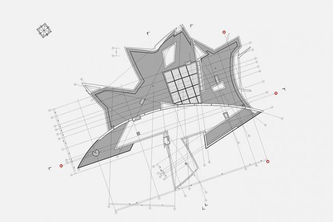 Индивидуальный жилой дом в пос. Архангельское. План кровли © Архитектурное бюро «Тотемент/Пейпер»