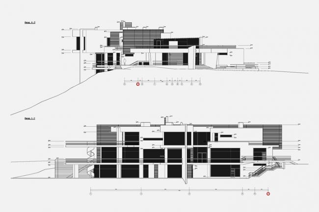 Индивидуальный жилой дом в пос. Архангельское. Фасады © Архитектурное бюро «Тотемент/Пейпер»