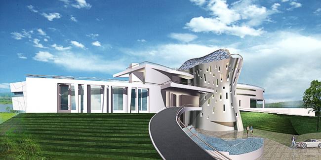 Загородная резиденция в пос. Архангельское. Вариант 1 © Архитектурное бюро «Тотемент/Пейпер»