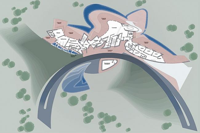 Загородная резиденция в пос. Архангельское. Вариант 1. План 2-го этажа © Архитектурное бюро «Тотемент/Пейпер»