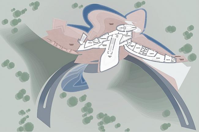 Загородная резиденция в пос. Архангельское. Вариант 1. План 3-го этажа © Архитектурное бюро «Тотемент/Пейпер»