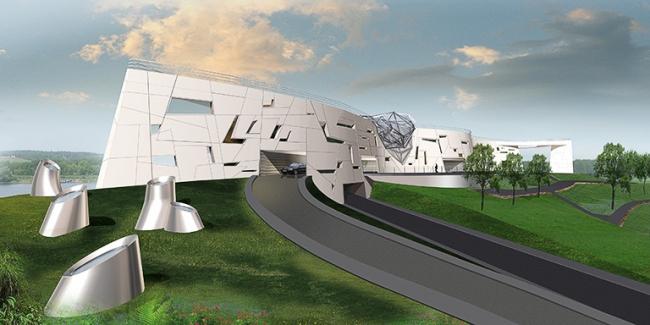 Загородная резиденция в пос. Архангельское. Вариант 2 © Архитектурное бюро «Тотемент/Пейпер»