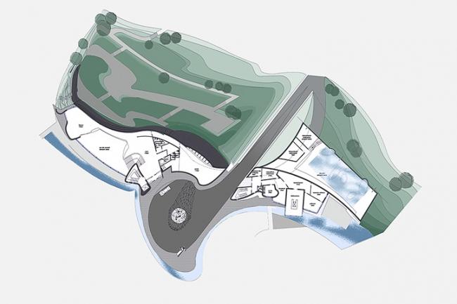 Загородная резиденция в пос. Архангельское. Вариант 2. План 2-го этажа © Архитектурное бюро «Тотемент/Пейпер»