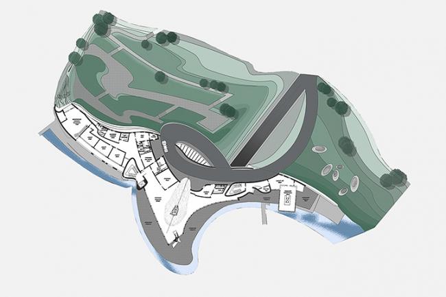 Загородная резиденция в пос. Архангельское. Вариант 2. План 3-го этажа © Архитектурное бюро «Тотемент/Пейпер»