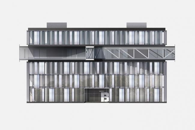 «Сбербанк» в инновационном центре «Сколково». Фасад. Вариант 1 © Архитектурное бюро «Тотемент/Пейпер»