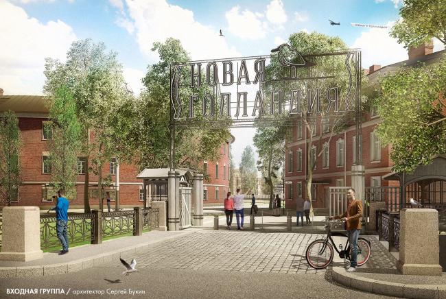 Парк Новая Голландия.  Входная группа © архитектор Сергей Букин. Проект 2014-2016