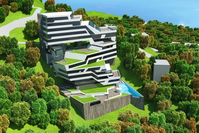 Апарт-отель в районе Комошевина г. Будва (Черногория) © Архитектурное бюро «Тотемент/Пейпер»