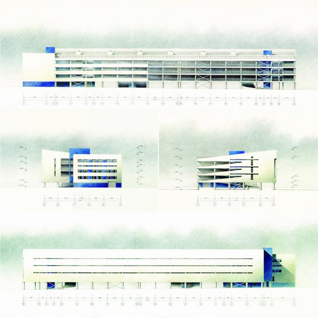 Гараж-паркинг на 9 Парковой улице © Архитектурная мастерская Лызлова