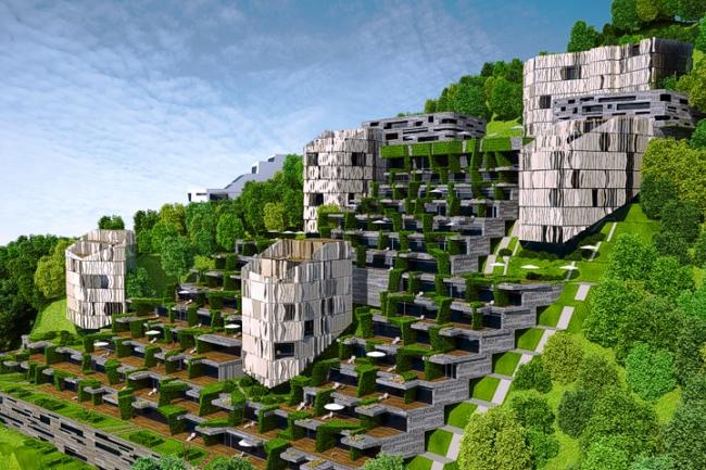 Апарт-отель в Госпоштине, г. Будва (Черногория) © Архитектурное бюро «Тотемент/Пейпер»