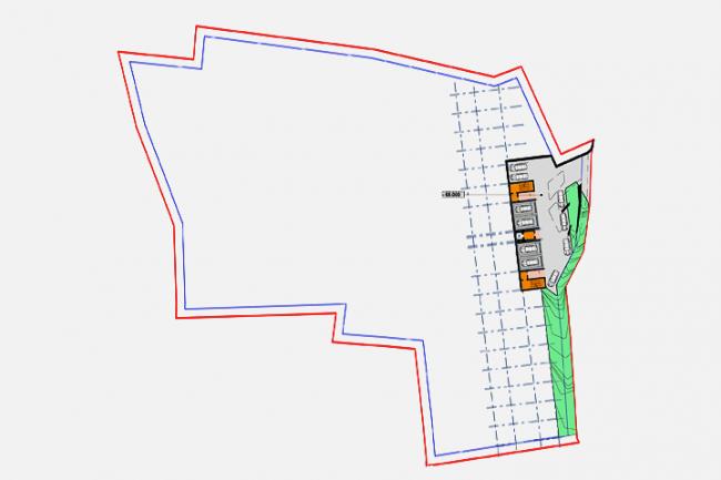Апарт-отель в Госпоштине, г. Будва (Черногория). Зонирование. план на отметке –68.000 © Архитектурное бюро «Тотемент/Пейпер»