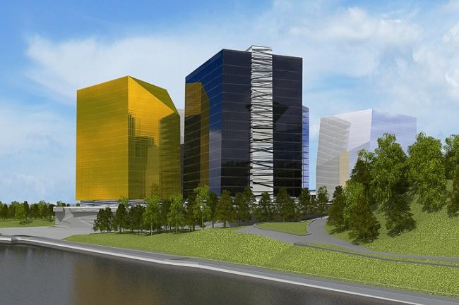 Многофункциональный комплекс в Мякинино © Архитектурное бюро «Тотемент/Пейпер»