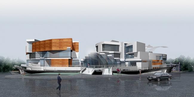 Спортивно-оздоровительный центр в пос. Серебряный бор © Архитектурное бюро «Тотемент/Пейпер»