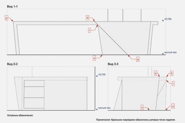 Стол для квартиры на ул. Маршала Жукова © Архитектурное бюро «Тотемент/Пейпер»