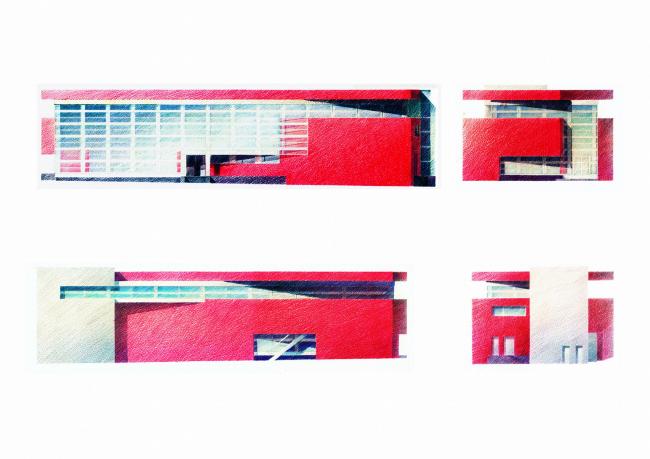 Магазин на Большой Семеновской улице («Покров мост») © Архитектурная мастерская Лызлова