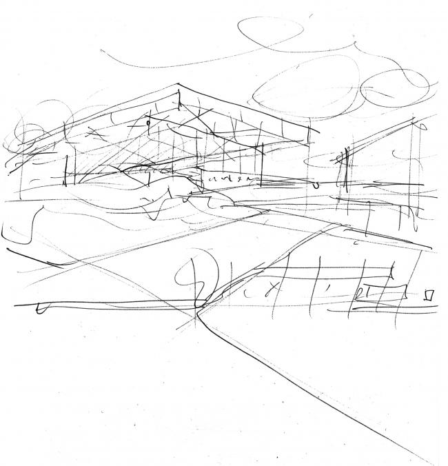 Футбольный стадион Монреаля. Эскиз © Saucier + Perrotte architectes / HCMA architects