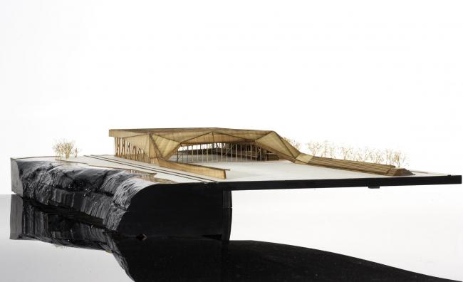 Футбольный стадион Монреаля. Макет © Saucier + Perrotte architectes / HCMA architects