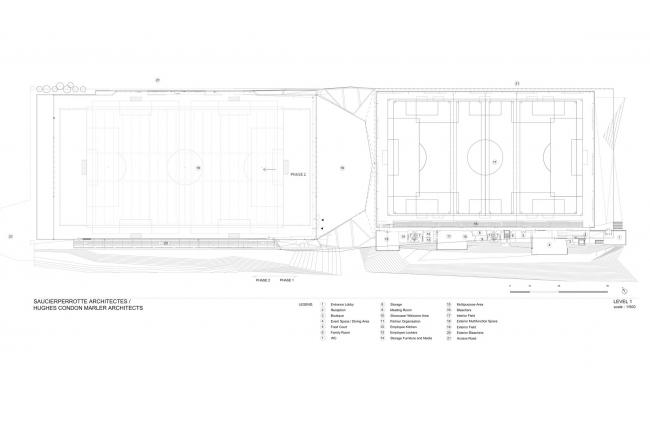 Футбольный стадион Монреаля © Saucier + Perrotte architectes / HCMA architects