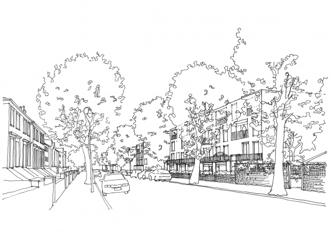 Жилой комплекс Ely Court © Alison Brooks Architects