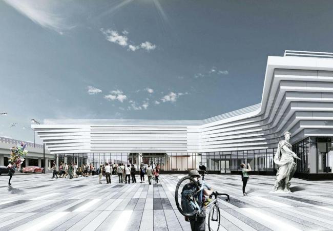 Коммерческий центр у метро «Теплый стан» © Проектное бюро «Крупный план»