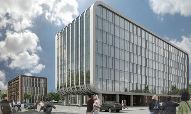 Комплекс офисных зданий в Автомобильном проезде © Архитектурная мастерская «Группа АБВ»