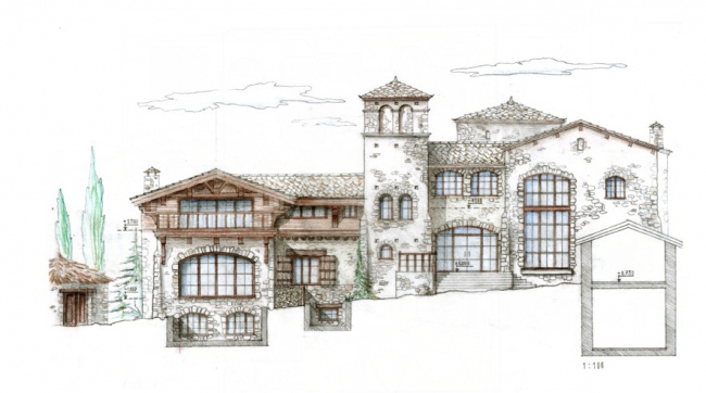 Загородный жилой дом из камня © Архитектурная мастерская «Группа АБВ»
